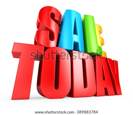 3D sale today - stock photo