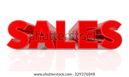 3D SALES word on white background 3d rendering - stock photo
