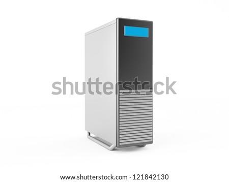 3d server - stock photo