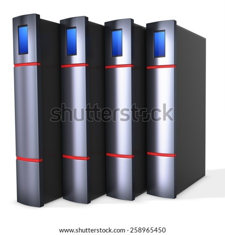 3d server blade units on white background - stock photo
