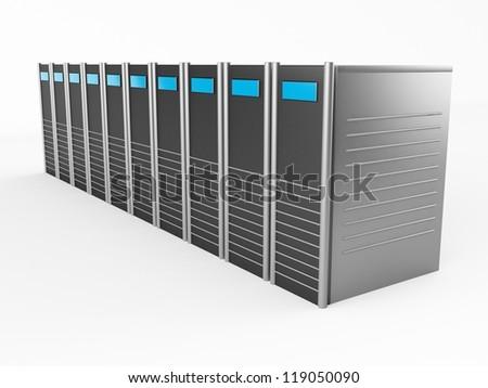 3d servers - stock photo