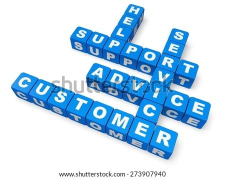 3D. Service, Advice, Customer. - stock photo