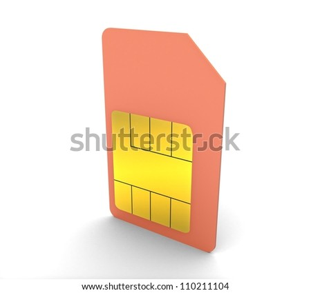 3d Set of color SIM cards - stock photo
