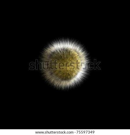 3d shaggy ball - stock photo