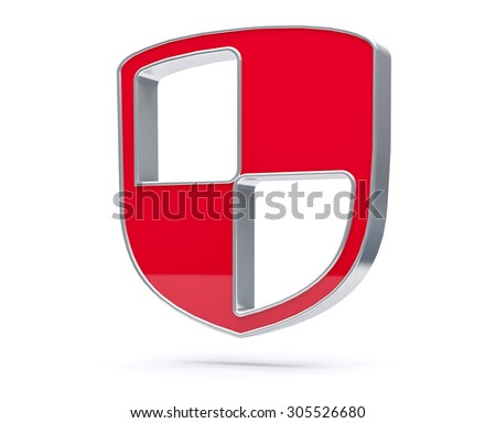 3D Shield isolated Icon. Security or safety concept render.