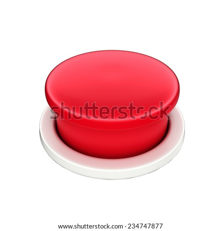 3d shinny and glossy red button