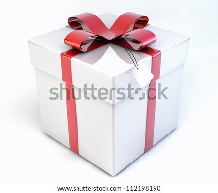 Gift box over white background 3d 61471834 shutterstock 3d shiny decorative gift present box package isolated on white background negle Choice Image