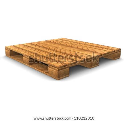 3d Shipping pallet