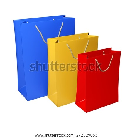3D. Shopping Bag, Shopping, Bag.