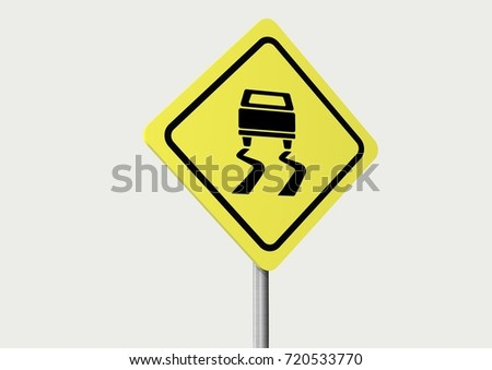 3d sign traffic on white background