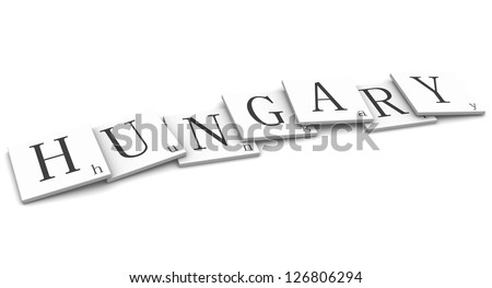 3D Signs word: Hungary - stock photo