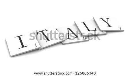 3D Signs word: Italy - stock photo