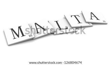 3D Signs word: Malta - stock photo