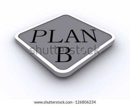3D Signs word: Plan - stock photo