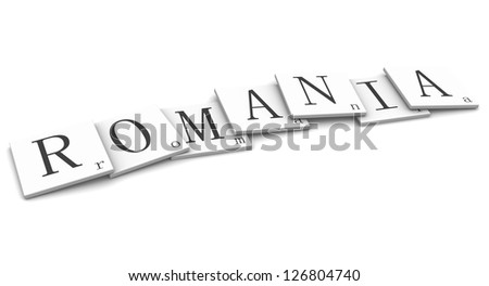 3D Signs word: Romania - stock photo