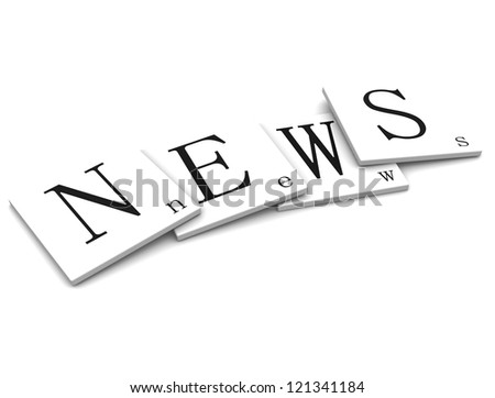 3D Sigs Word News - stock photo