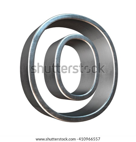 3d silver metal  frame letter o rendering with silver metal empty line alphabet, 3d render, 3d illustration