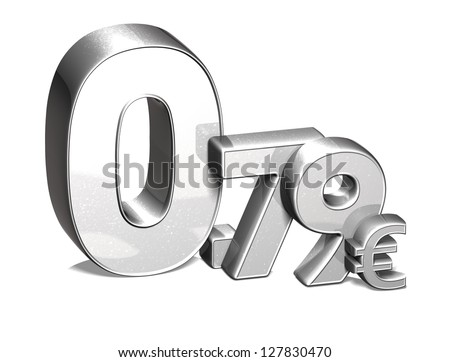 3D Silver Special Price Euro collection over white background