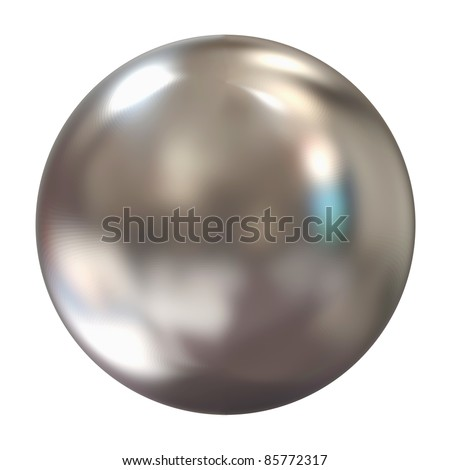 3d Silver Sphere isolated on white background