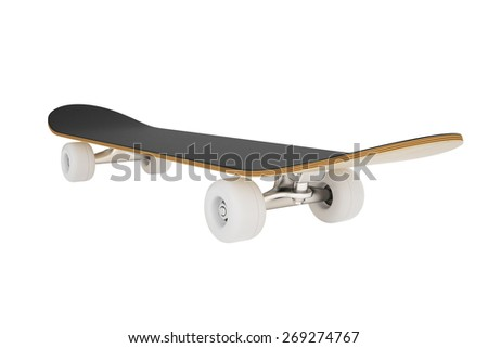 3d skateboard isolated on a white background.