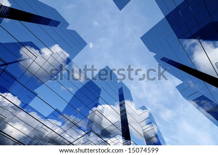 3d skyscrapers - stock photo