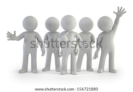 3d small people - stock photo