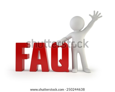 3d small people - FAQ - stock photo