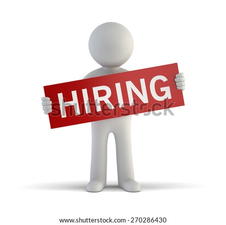 3d small people - Hiring - stock photo