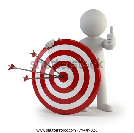 3d small people - target - stock photo