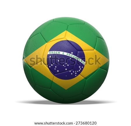 3D. Soccer, Fifa World Cup, Soccer Ball. - stock photo