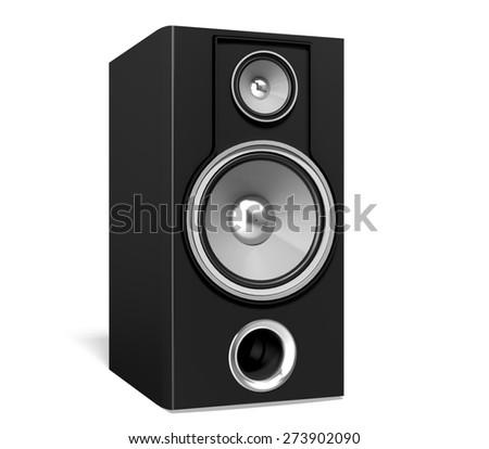3D. Speaker, Music, Stereo. - stock photo