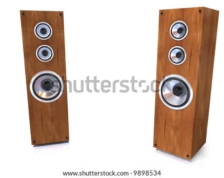 3d speakers - stock photo