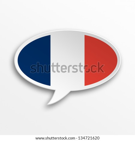 3d speech bubble - France - stock photo