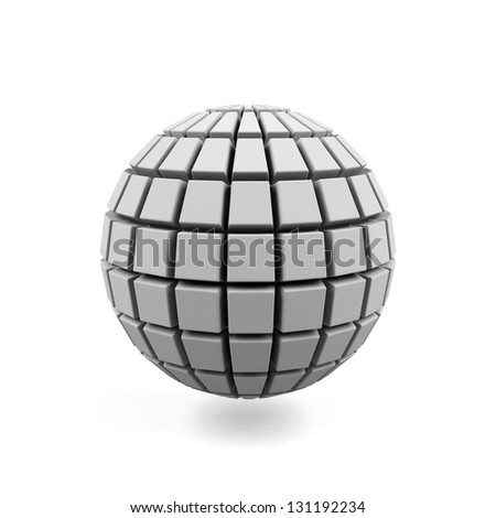 3d Sphere isolated on a white - stock photo