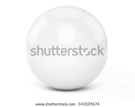 3D sphere - isolated over a white background - stock photo
