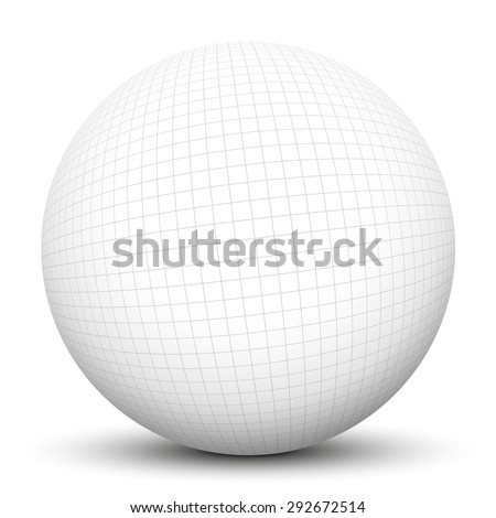 White D Vector Sphere Graph Paper Stock Vector