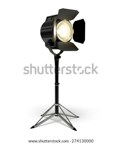 3D. Spotlight, Theatrical Performance, Stage Theater.