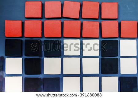 3d square graphic pattern