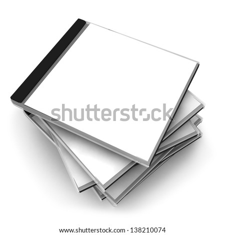 3d stack of disk isolated on white background - stock photo