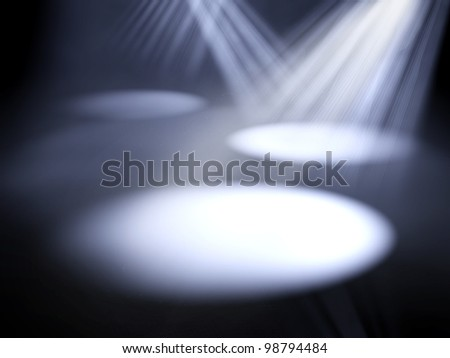 3d stage lights - stock photo