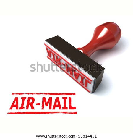 3d stamp air-mail