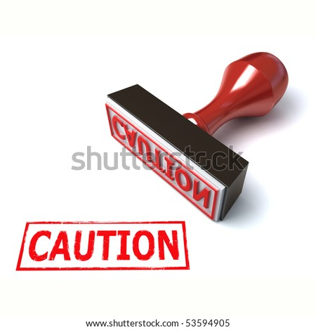 3d stamp caution