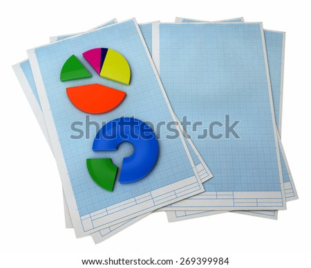 3d statistics, isolated white background, 3d image - stock photo