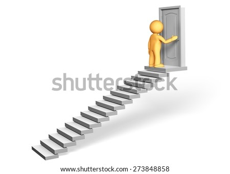 3D. Steps, Staircase, Improvement. - stock photo