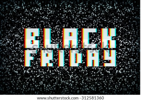 3D stereo effect black friday banner, sale announcement for retail business - stock photo