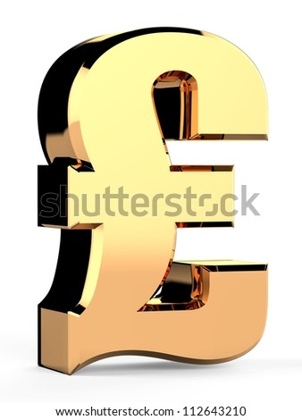 3D sterlin sign - stock photo