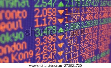 3D. Stock Market, Finance, Stock Exchange. - stock photo