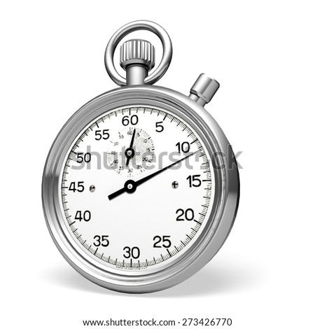 3D. Stopwatch, Speed, Clock.