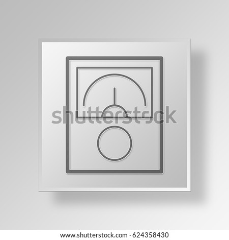 3D Symbol Gray Square business person icon Business Concept