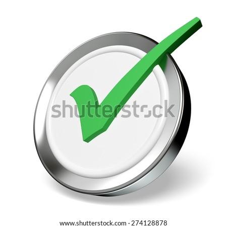 3D. Symbol, Interface Icons, Push Button. - stock photo